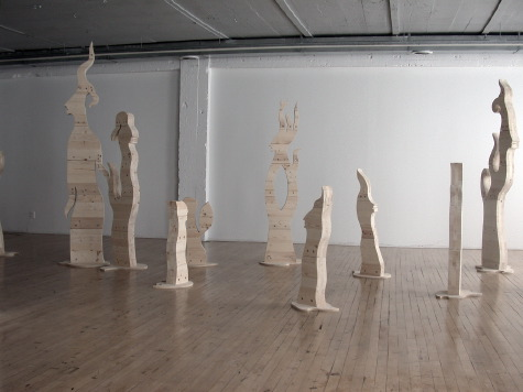 image of installation of Crossroads by Ed Pas at AKA Gallery in Saskatoon