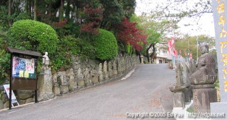 view up the driveway to Amida-in