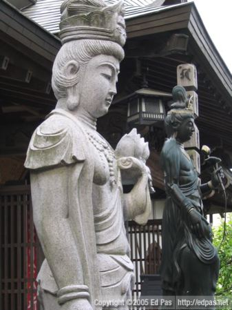detail of Kannon statue, Amida-in
