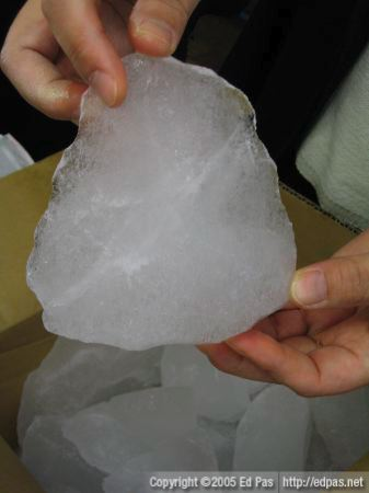 a chunk of ice from Antarctica
