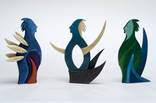 The Meeting Place, Detail. Left to right: Keeper of Oceans, Keeper of Winds, The Gardener